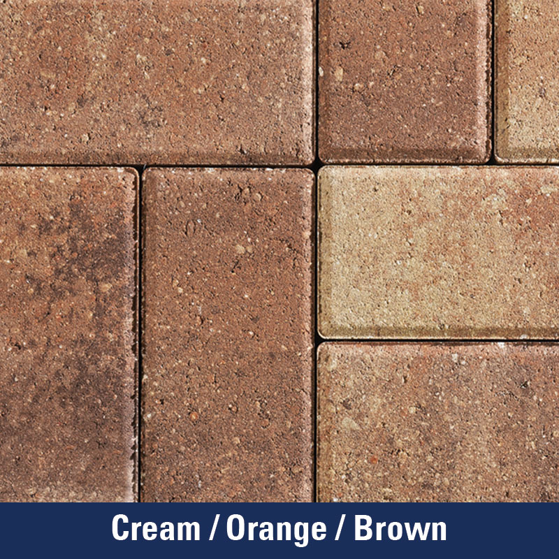 Cream/Orange/Brown